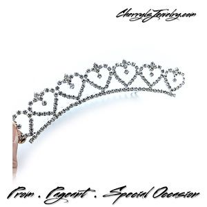Accessories - Heart Rhinestone Hair Comb